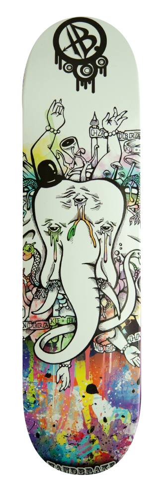Circus Elephant - Skateboard Deck - Handbrake Design Perth