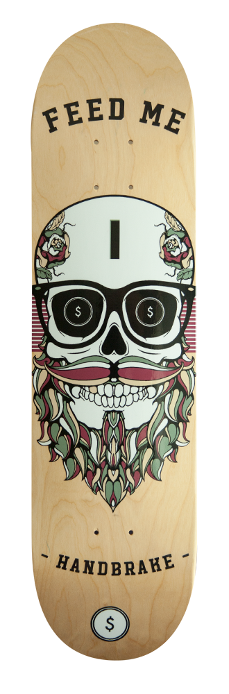 Feed Me - Skateboard Deck - Handbrake Design Perth