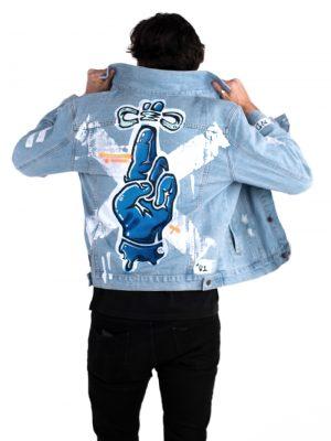 Fingers Crossed denim jacket