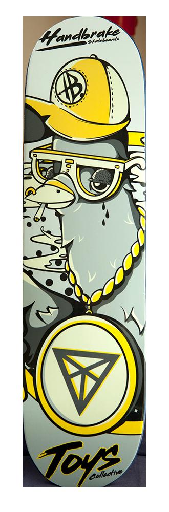 Ghetto Pigeon - Skateboard Deck - Handbrake Design Perth
