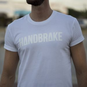 Logo White Tee - Handbrake Design - Perth