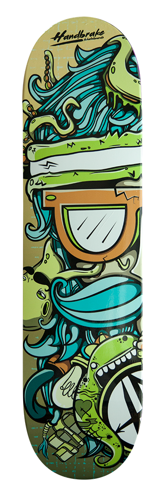 The Dude Double - Skateboard Deck Custom Design - Handbrake Design Perth